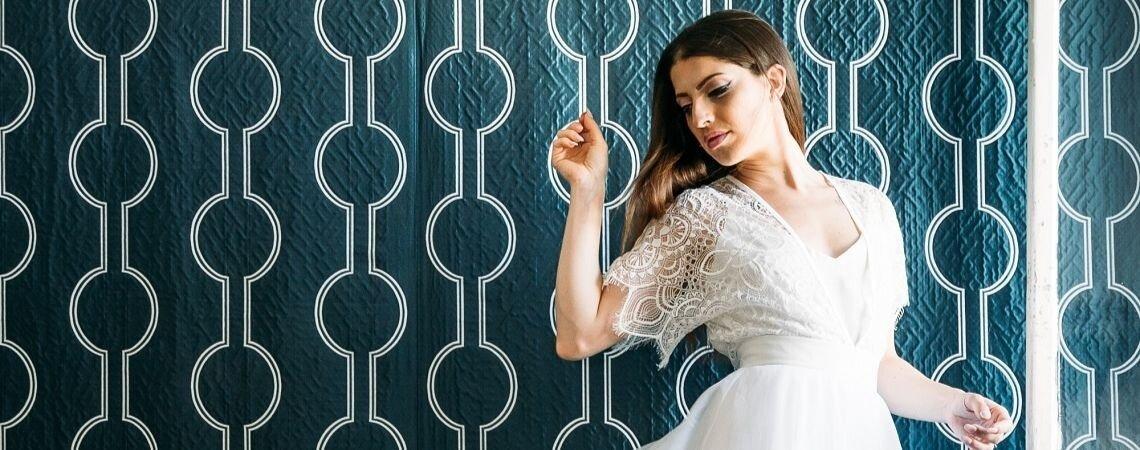Jupon, blouse, jupe-culotte : les robes de mariée sur mesure Elodie Courtat ont tout bon !
