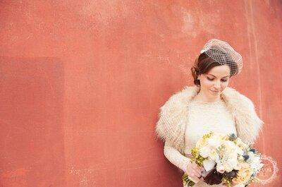 Véus birdcage ou voilette: uma alternativa ao véu tradicional