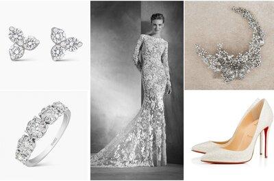 Look de novia con vestido de transparencias estilo