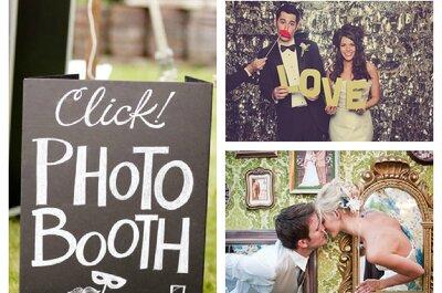 Photobooth und Photowall für lustige Hochzeitsfotos