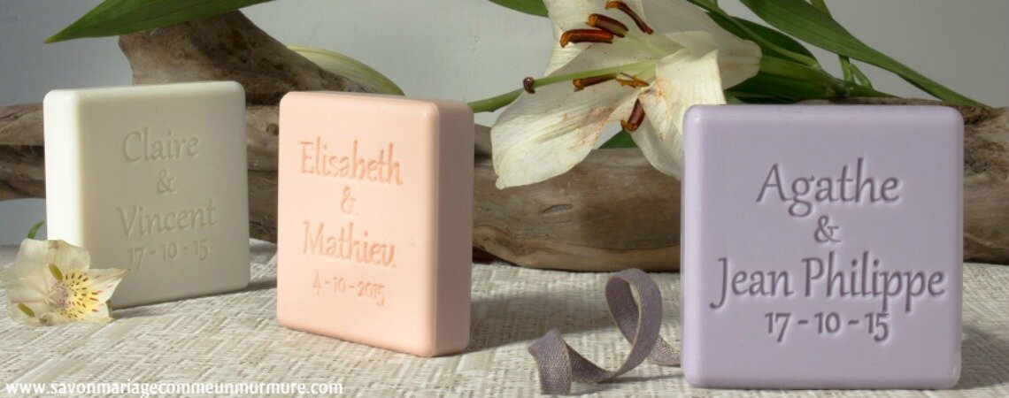Le savon personnalisé, le cadeau d'invités tendance et élégant pour votre grand jour !