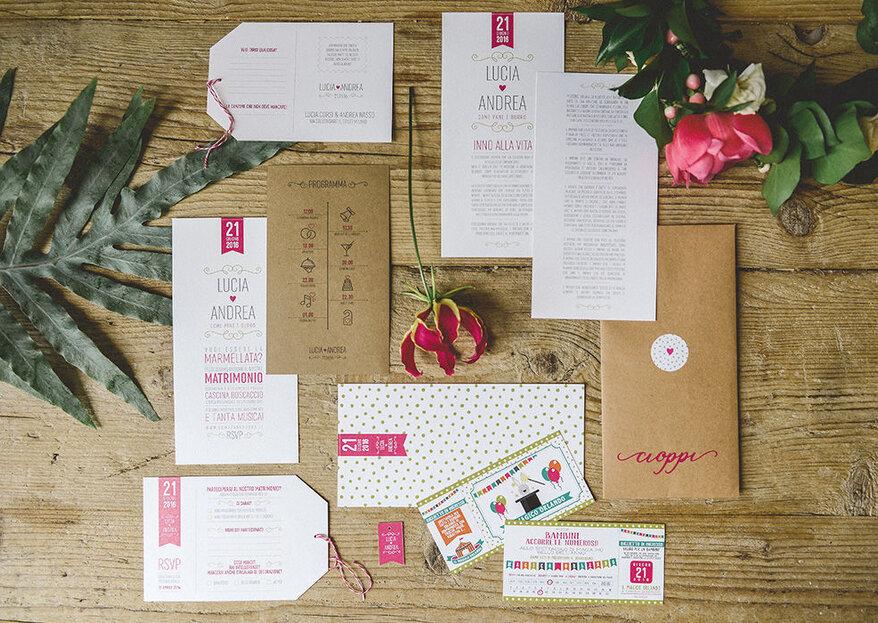 Il percorso grafico di un matrimonio in 5 step: la parola a Design & Craft