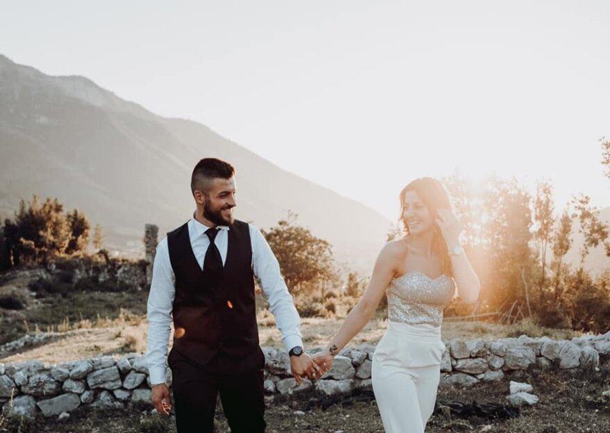 Iacondino Michele wedding photographer riaccende i flash sui sorrisi degli sposi, inaugurando le nozze di Michele e Francesca