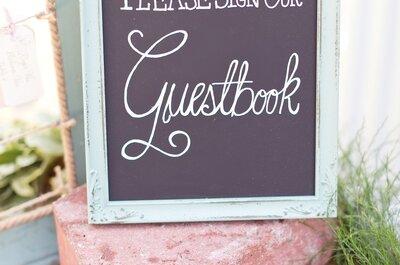 Guestbook: Llévate el mejor recuerdo de los invitados en tu boda con estas ideas