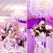 Decoración de una boda en colores morado y blanco