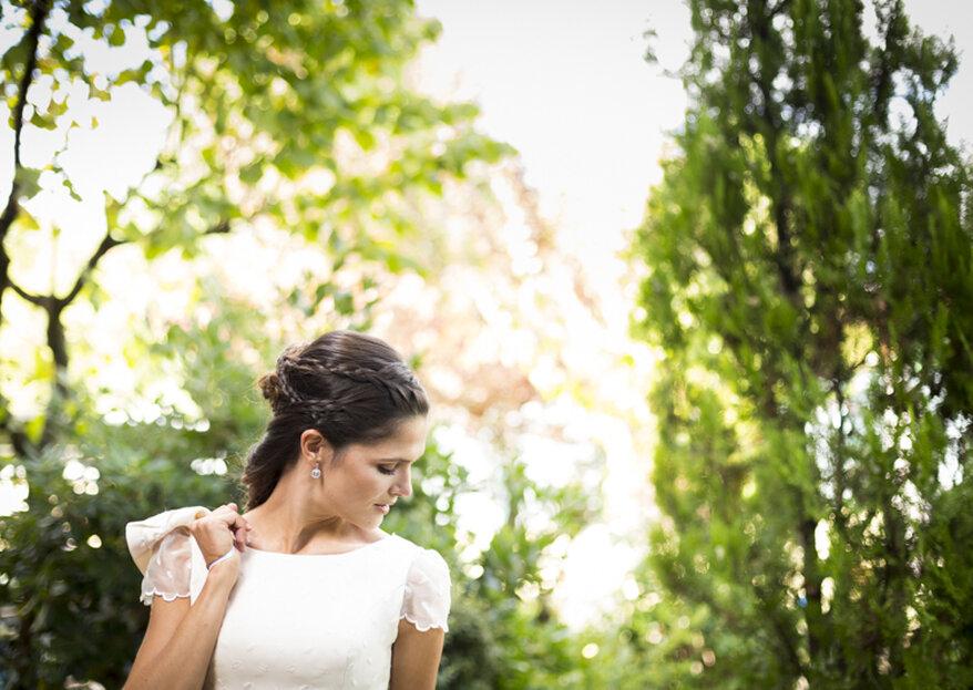 Scegli i migliori orecchini da sposa in base alla tua acconciatura