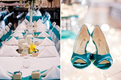 Heiraten in der Farbe des Sommers: Türkis!