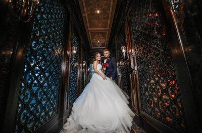 Роскошное бордо: свадьба Юлии и Валентина