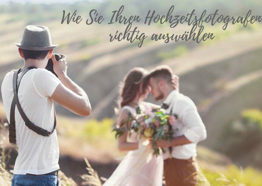 Wie Sie den richtigen Hochzeitsfotografen finden - 5 Schritte, die Sie bei der Wahl beachten sollten