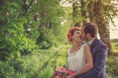 Pauline + Florian : Une demande au sommet des Alpes et un mariage dans les plaines de Normandie
