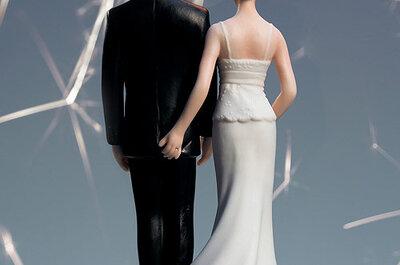 Figuras originales para decorar la tarta de bodas