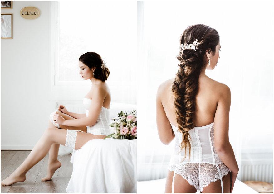 Sexy White Bridal Boudoir Shoot