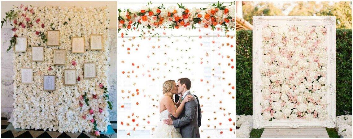 Ściana kwiatów, czyli pionowy ogród na weselu. Nowość oraz jedna z najbardziej oryginalnych dekoracji !
