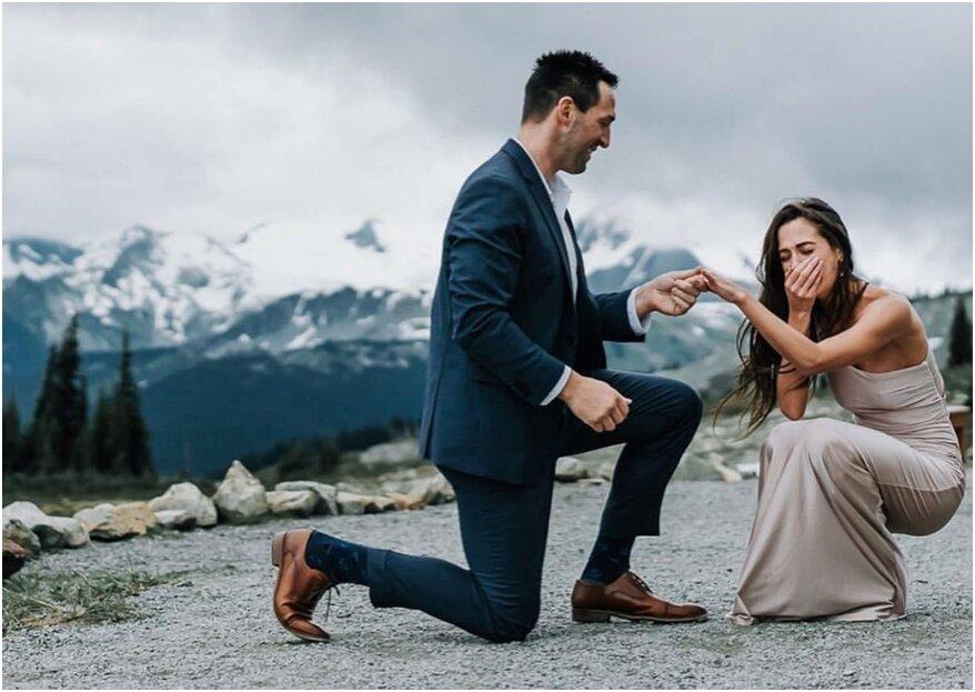 Idee per chiedere la mano al tuo partner (e cosa invece NON fare)