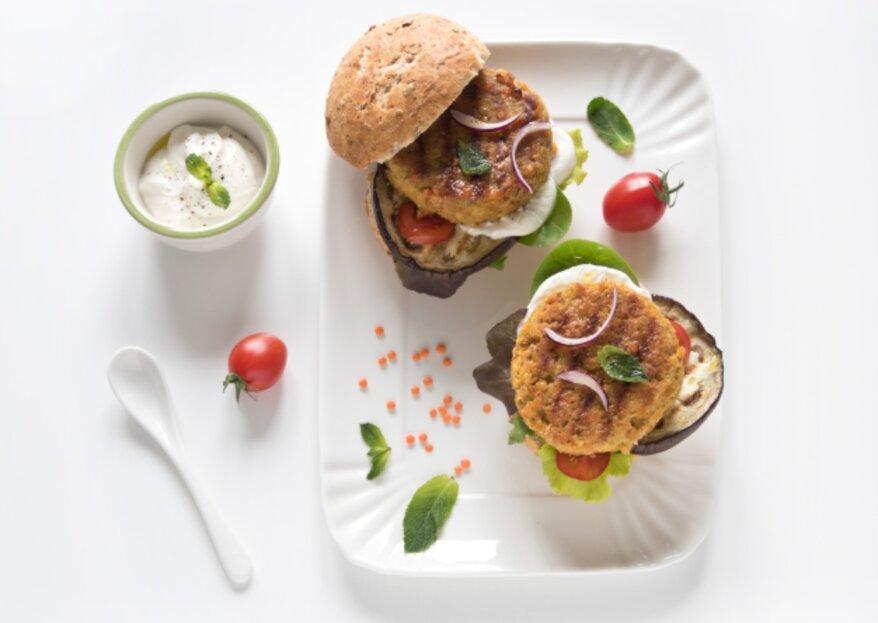 Veggie Burger, la proposta healthy per il tuo menù di nozze