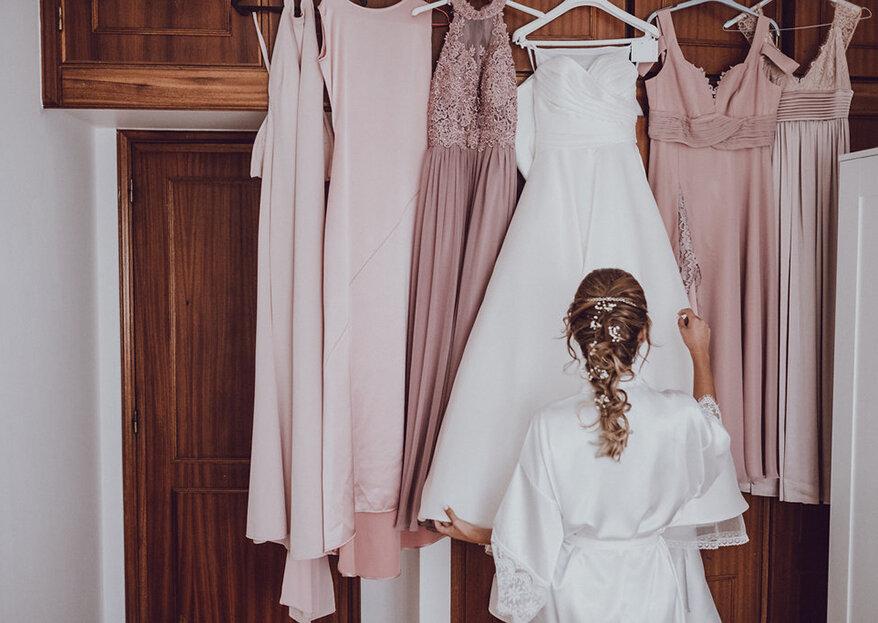 9 Sinais claros que lhe dizem quando o vestido de noiva não é o vestido certo para si! Anote!