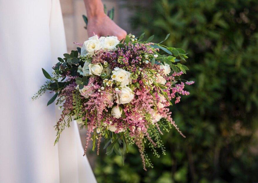 Ramos de novia con astilbe: románticos y muy naturales