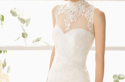 Preciosos vestidos de novia con cuello cisne: Cúbrete de encanto con los más exquisitos textiles