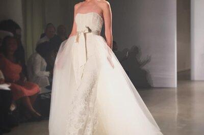 New York Bridal Week 2015: los vestidos más imponentes para tu look nupcial