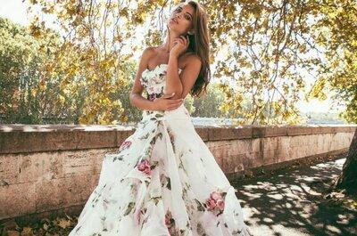 Der florale Look ist Trend - geben Sie Ihrer Hochzeit mit Blumenmustern einen einzigartigen Touch!