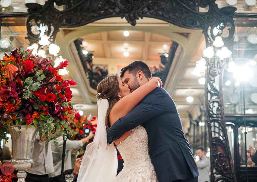 Maria & Diogo: casamento animado na Confeitaria Colombo comandado com maestria pela Angel Assessoria e Cerimonial