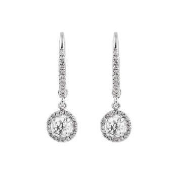 Brincos com topázios brancos e borda de diamantes e prata. Créditos: Aristocrazy