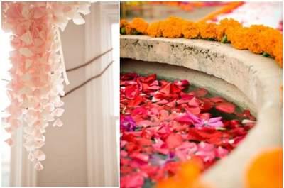 Decora il tuo matrimonio con petali: 15 idee originalissime
