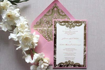 Decoración en dorado y rosa para tu boda: romanticismo y elegancia con toques retro