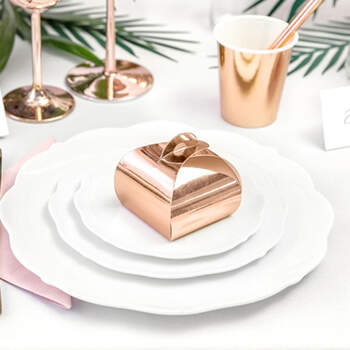 Caja Chic Rosa Oro para Dulces 10 unidades- Compra en The Wedding Shop