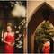 Otro ejemplo de novia que apuesta por el total look en rojo. Foto. Roberto y María