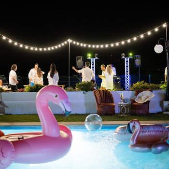A festa na piscina