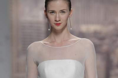 Dulzura que enamora: Vestidos de novia 2015 con hermosos moños... ¡Te encantarán!