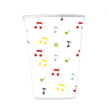 Vasos Fiesta Musical 8 unidades- Compra en The Wedding Shop