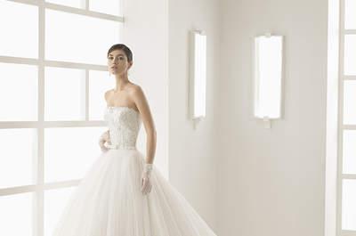 Los 40 vestidos de novia con falda voluminosa 2017 que no querrás dejar escapar