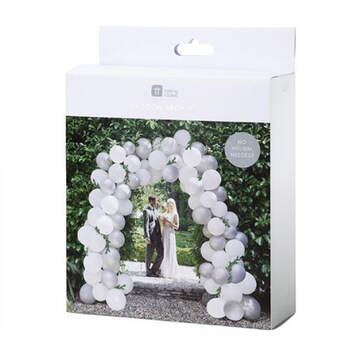 Arco de globos plata 80 unidades- Compra en The Wedding Shop