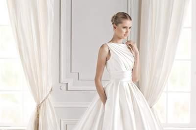 Bolsillos en tu vestido de novia 2016. ¡Únete a esta cómoda moda!