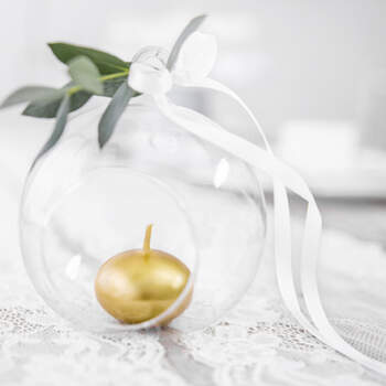 Candele galleggianti oro 50 pezzi- Compra en The Wedding Shop