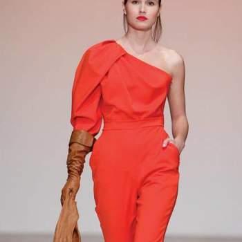 Outfit de festa cor-de-laranja, by Nuno Baltazar Out. 2012.