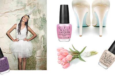 Propuestas de uñas para novia de Opi nails para la primavera-verano 2012. Foto: Opi Nails