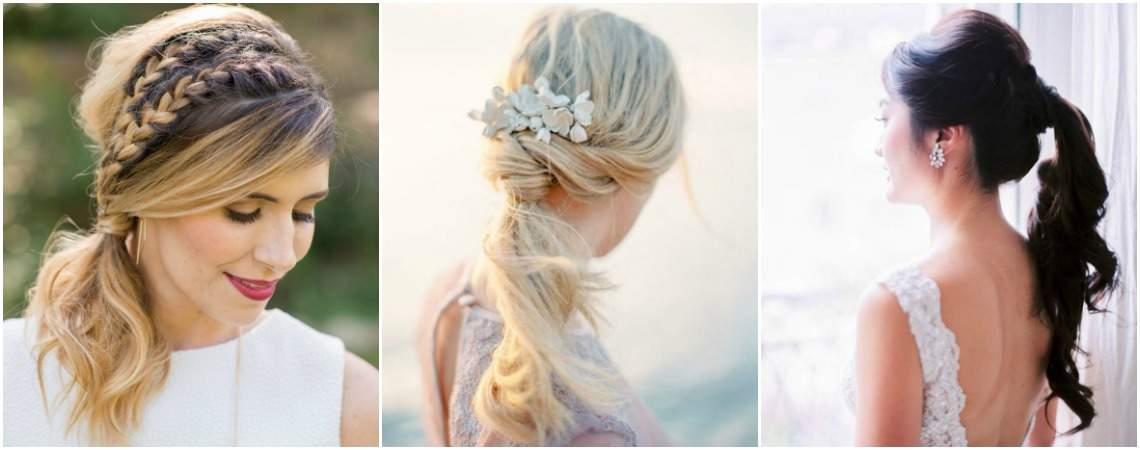 "Peinados de novia con ""cola de caballo"": Un recogido con estilo para tu gran día"