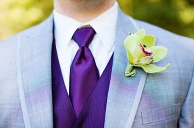 Bright & Modern Wedding Boutonnieres