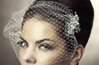 Accesorios cómodos: tocados de novia con velo