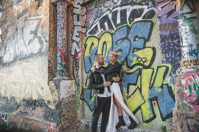 Pour une mariée rock et glamour en 2016, inspirez-vous de ce sublime shooting !