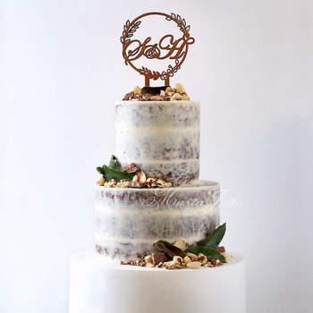 Inspiração para bolos de casamento de 3 andares | Créditos: Maria João Bolos Artísticos