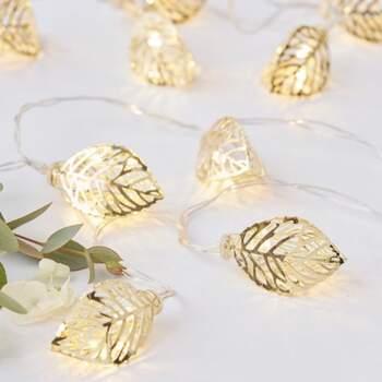 Lumières feuilles d'or - The Wedding Shop
