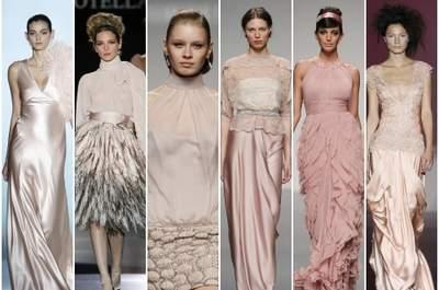 Vestidos 'nude' para invitadas, colecciones 2013. Fotos: Barcelona Bridal Week/ IFEMA