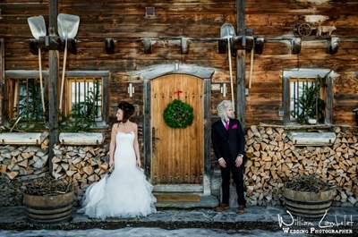Un mariage sous la neige : direction les pistes !