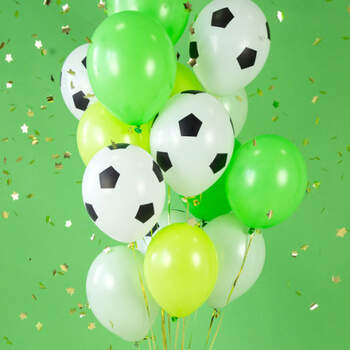 Globos de balón de fútbol de 6 piezas- Compra en The Wedding Shop