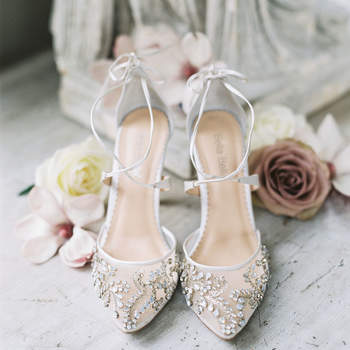 Chaussures de mariée blanches Jessa Schifilliti