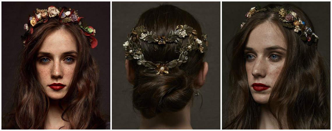 15 tocados de flores para las novias más primaverales